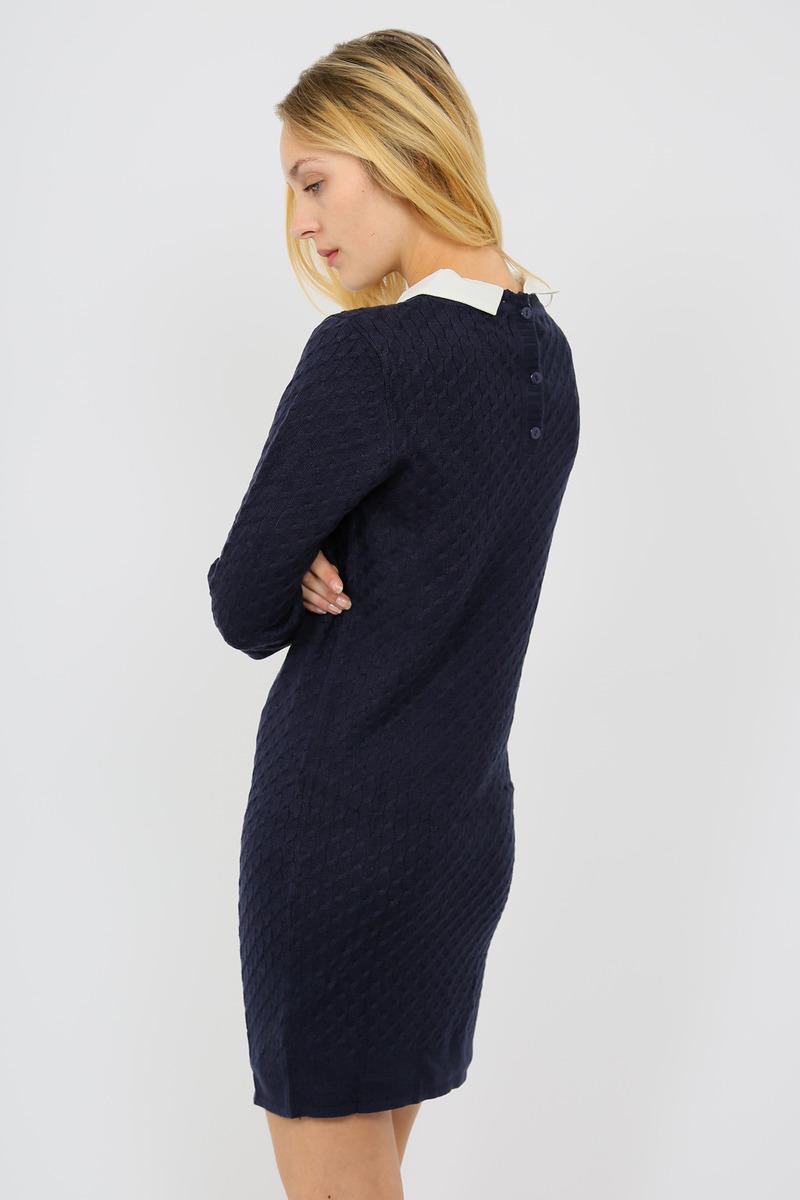 Robe bleu marine avec col blanc
